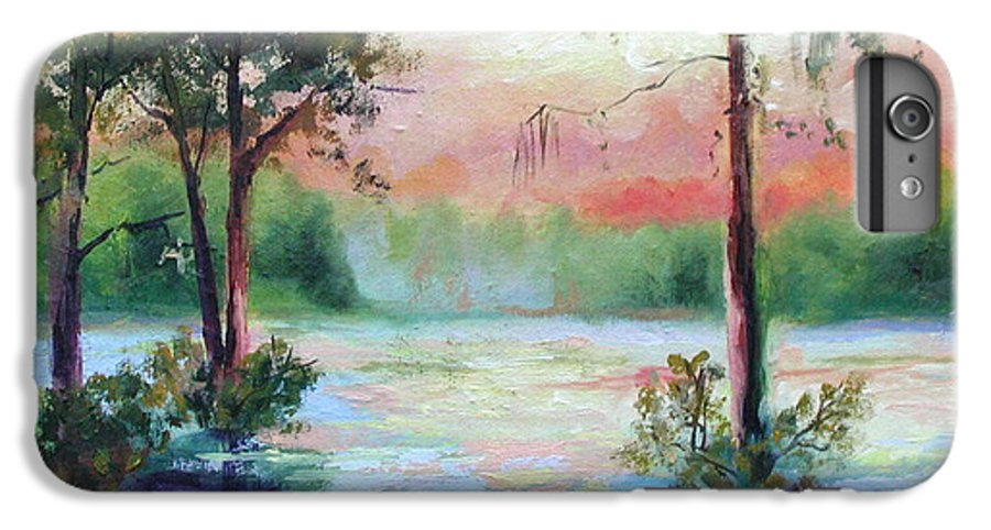 Sunset IPhone 6s Plus Case featuring the painting Sunset Bayou by Ginger Concepcion