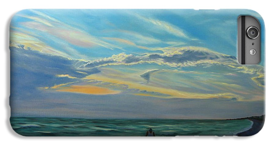 Seascape IPhone 6s Plus Case featuring the painting Sunset Treasure Hunt by Lea Novak