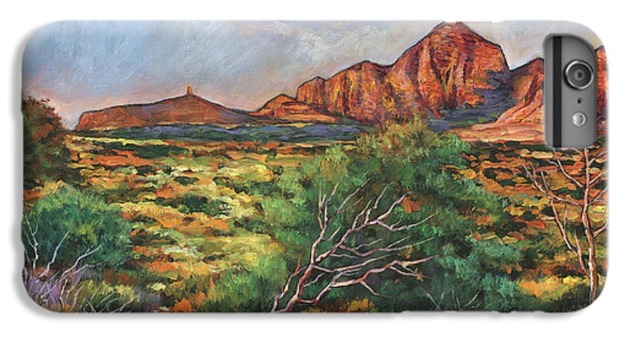 Arizona Desert IPhone 6s Plus Case featuring the painting Surrounded By Sedona by Johnathan Harris