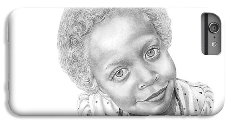 Portrait IPhone 6s Plus Case featuring the drawing Sweet Eyes by Murphy Elliott