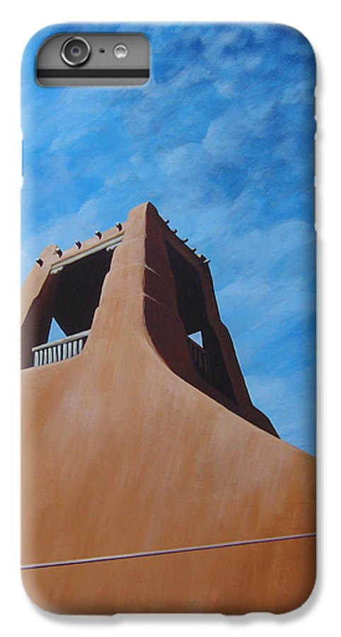 Taos IPhone 6s Plus Case featuring the painting Taos Memory by Hunter Jay