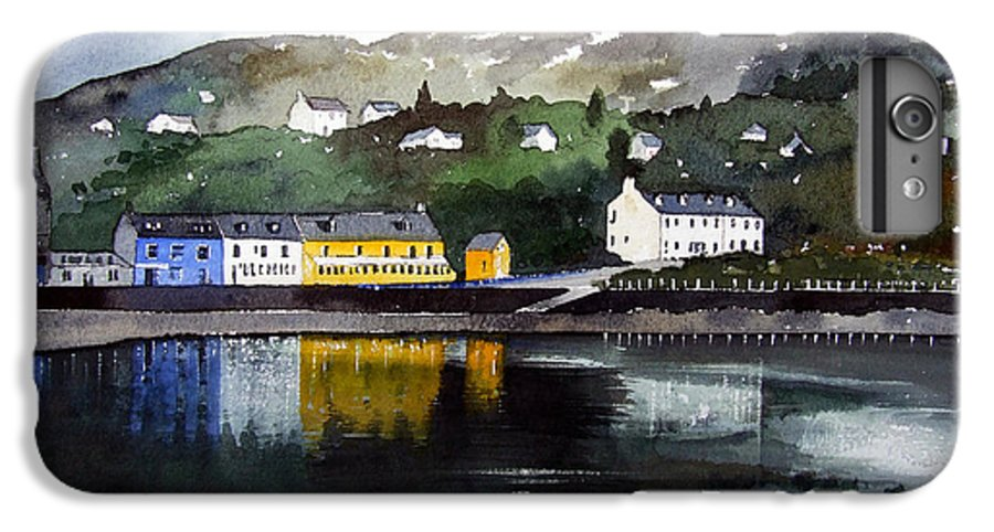 Scottish Fishing Harbour IPhone 6s Plus Case featuring the painting Tarbert Reflections by Paul Dene Marlor