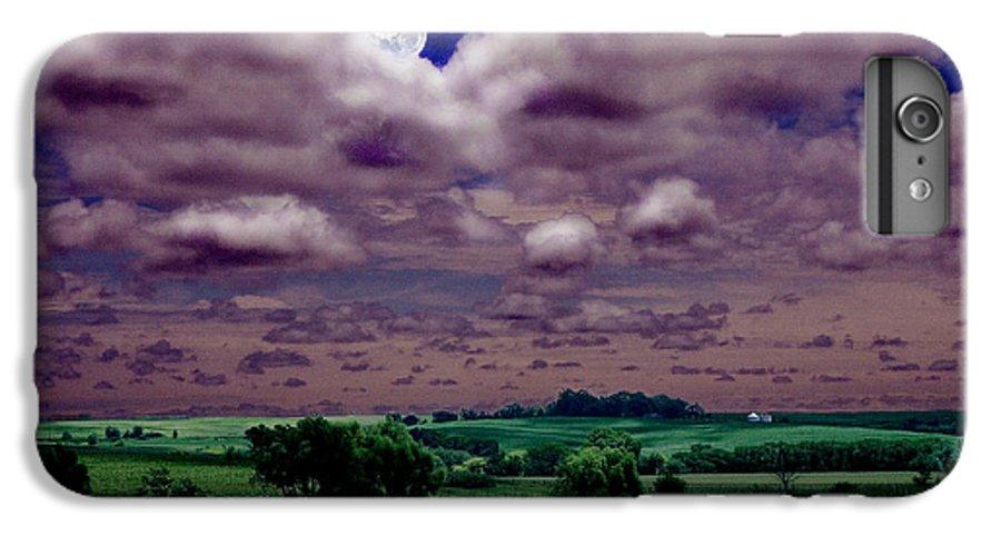 Landscape IPhone 6s Plus Case featuring the photograph Tarkio Moon by Steve Karol