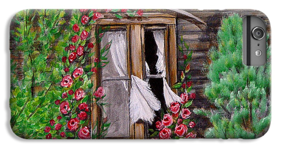 Curtains IPhone 6s Plus Case featuring the painting Tattered Curtains by Quwatha Valentine