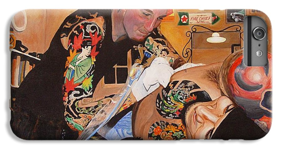 Portrait IPhone 6s Plus Case featuring the painting Tattoo Artist by Quwatha Valentine