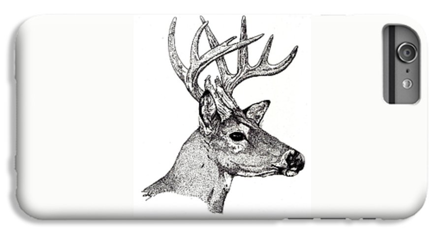 Deer IPhone 6s Plus Case featuring the drawing Ten Point Buck by Debra Sandstrom