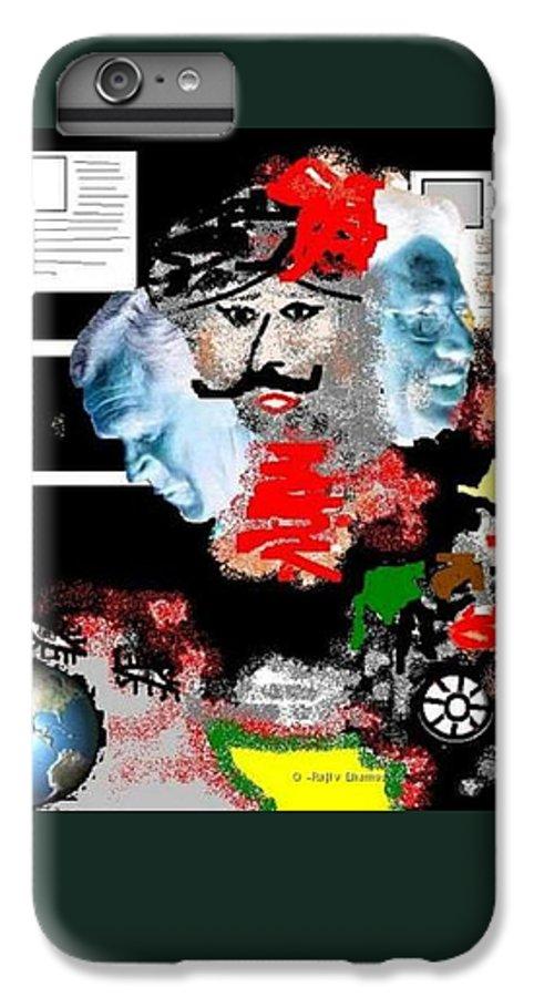 Digital Art IPhone 6s Plus Case featuring the digital art Terror by R B