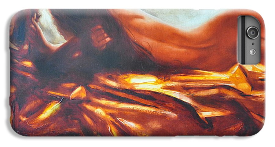 Painting IPhone 6s Plus Case featuring the painting The Amber Speck Of Light by Sergey Ignatenko