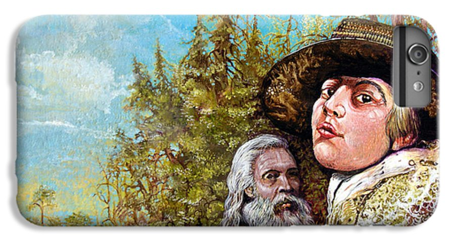 Surrealism IPhone 6s Plus Case featuring the painting The Dauphin And Captain Nemo Discovering Bogomils Island by Otto Rapp