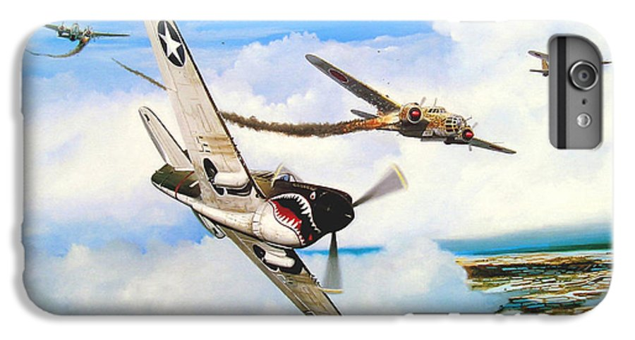 Military IPhone 6s Plus Case featuring the painting The Day I Owned The Sky by Marc Stewart