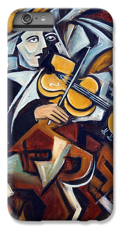 Musician IPhone 6s Plus Case featuring the painting The Fiddler by Valerie Vescovi