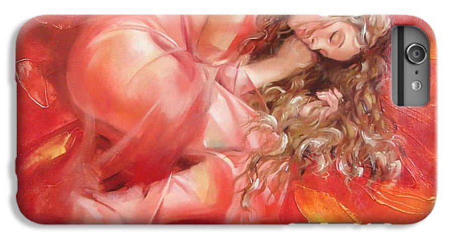 Oil IPhone 6s Plus Case featuring the painting The Flower Paradise by Sergey Ignatenko