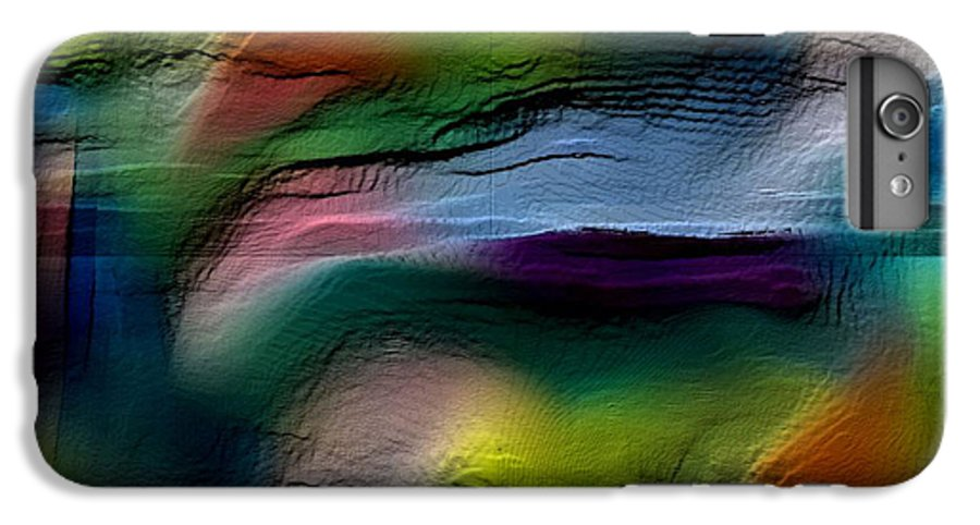 Abstract IPhone 6s Plus Case featuring the digital art The Future Looks Bright by Ruth Palmer