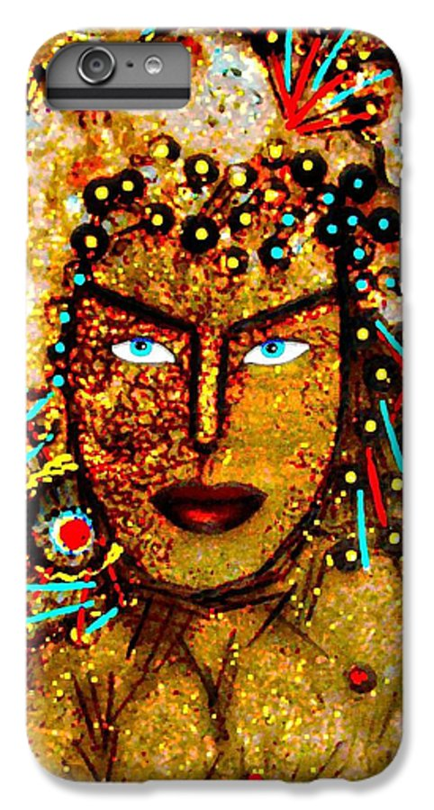 Goddess IPhone 6s Plus Case featuring the painting The Golden Goddess by Natalie Holland