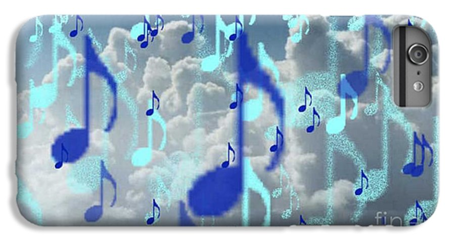 IPhone 6s Plus Case featuring the digital art The Greater Clouds Of Witnesses We Love The Blues Too by Brenda L Spencer