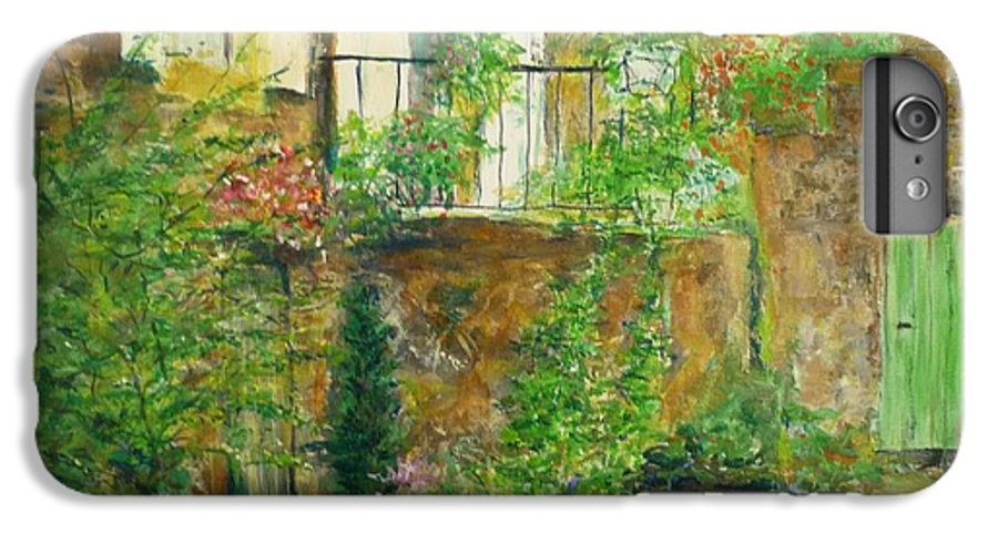 Stone IPhone 6s Plus Case featuring the painting The Green Door by Lizzy Forrester