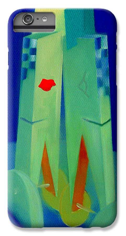 Blue IPhone 6s Plus Case featuring the painting The Kiss by Charles Stuart