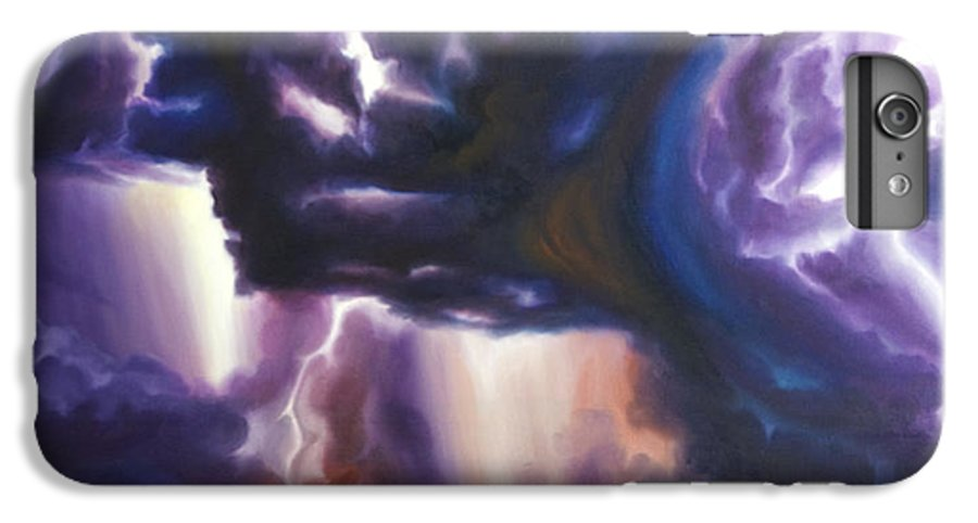 Tempest IPhone 6s Plus Case featuring the painting The Lightning by James Christopher Hill