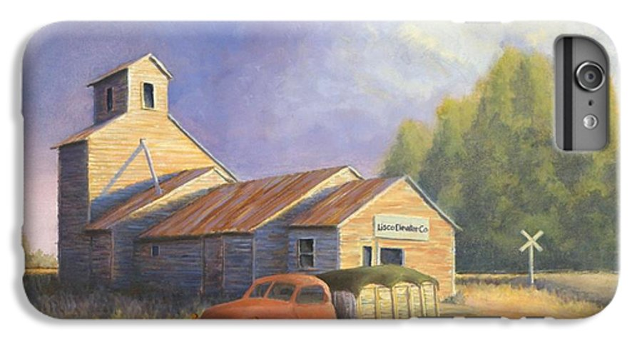 Nebraska IPhone 6s Plus Case featuring the painting The Lisco Elevator by Jerry McElroy