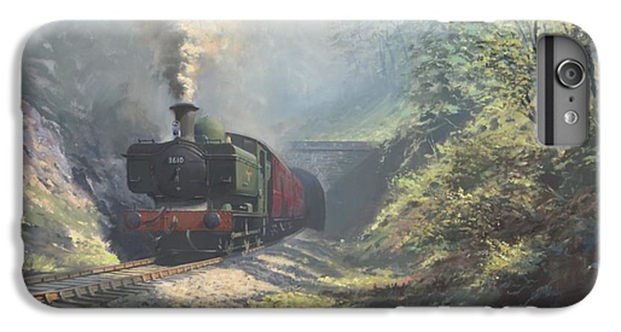 Steam IPhone 6s Plus Case featuring the painting The Merthyr Tunnel by Richard Picton