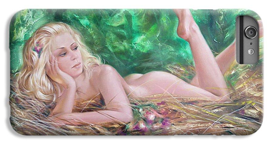 Ignatenko IPhone 6s Plus Case featuring the painting The Pretty Summer by Sergey Ignatenko
