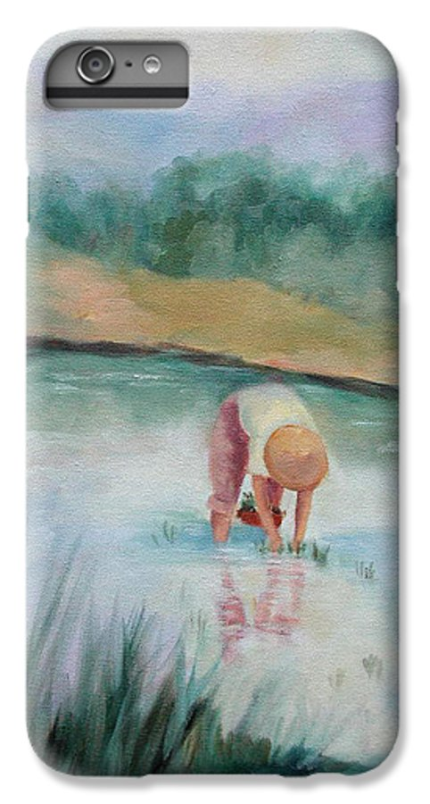 Figurative IPhone 6s Plus Case featuring the painting The Rice Planter by Ginger Concepcion