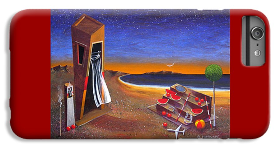 Landscape IPhone 6s Plus Case featuring the painting The School Of Metaphysical Thought by Dimitris Milionis