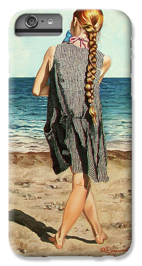 Sea IPhone 6s Plus Case featuring the painting The Secret Beauty - La Belleza Secreta by Rezzan Erguvan-Onal