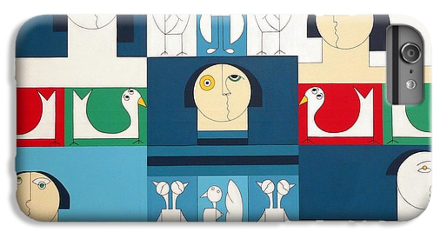 People Birds Music Modern Special IPhone 6s Plus Case featuring the painting The Sound Of Birds by Hildegarde Handsaeme
