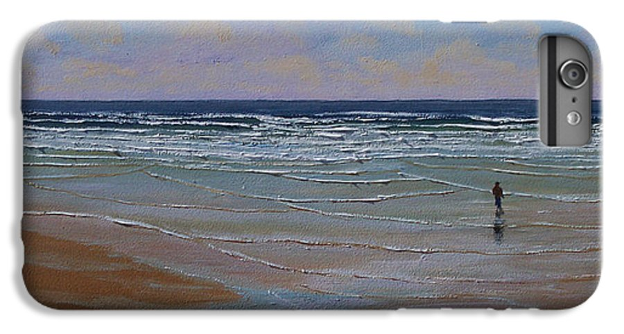 Seascape IPhone 6s Plus Case featuring the painting The Surf Walker by Frank Wilson