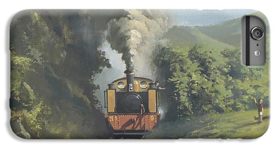 Steam IPhone 6s Plus Case featuring the painting The Vale Of Rheidol Railway by Richard Picton
