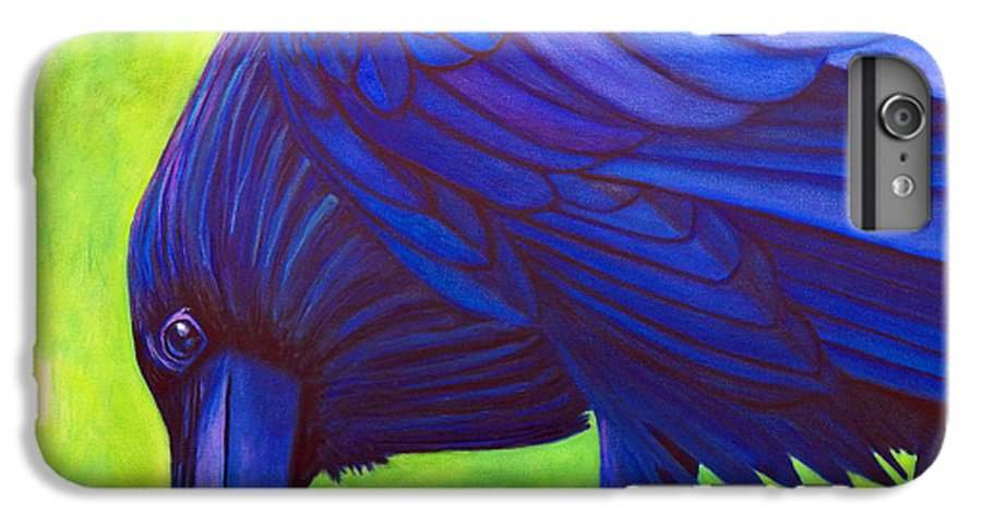 Raven IPhone 6s Plus Case featuring the painting The Witness by Brian Commerford