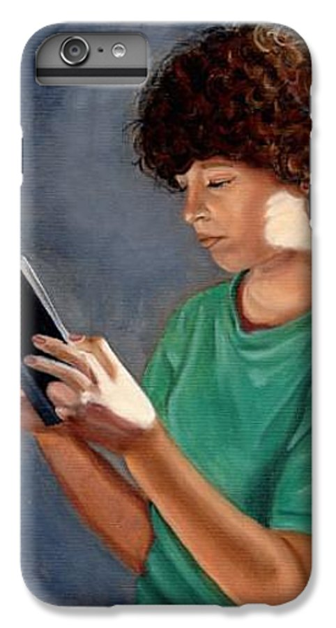 Portrait IPhone 6s Plus Case featuring the painting Thirst For Knowledge by Toni Berry