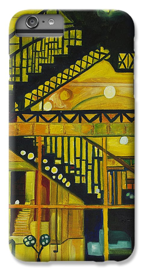 Abstract IPhone 6s Plus Case featuring the painting Through Parisian Glass by Patricia Arroyo