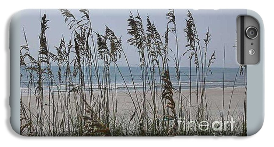 Florida Beach Near St. Augustine IPhone 6s Plus Case featuring the photograph Thru The Sea Oats by Barb Montanye Meseroll