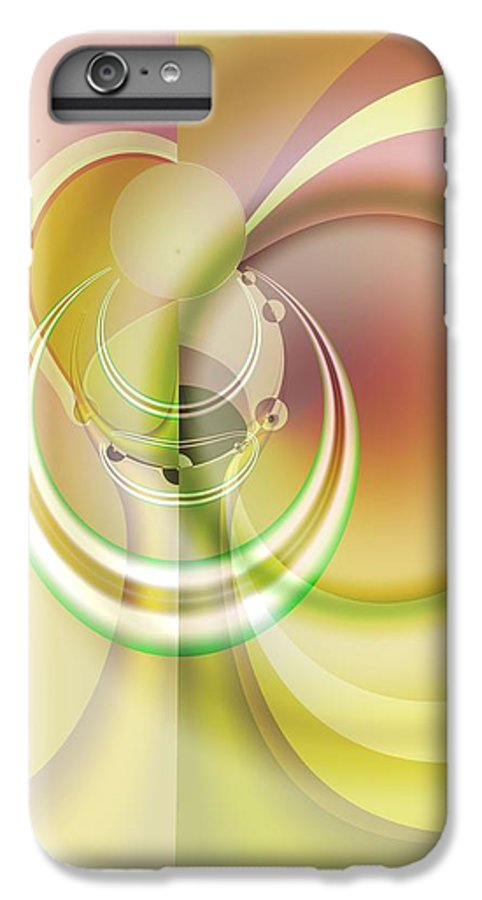 Fractal IPhone 6s Plus Case featuring the digital art Time Warp Revisited by Frederic Durville