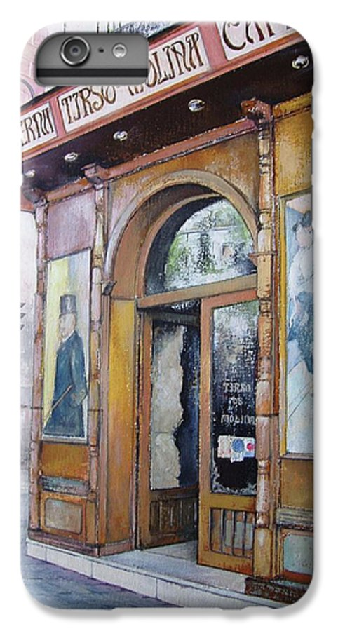 Tirso IPhone 6s Plus Case featuring the painting Tirso De Molina Old Tavern by Tomas Castano