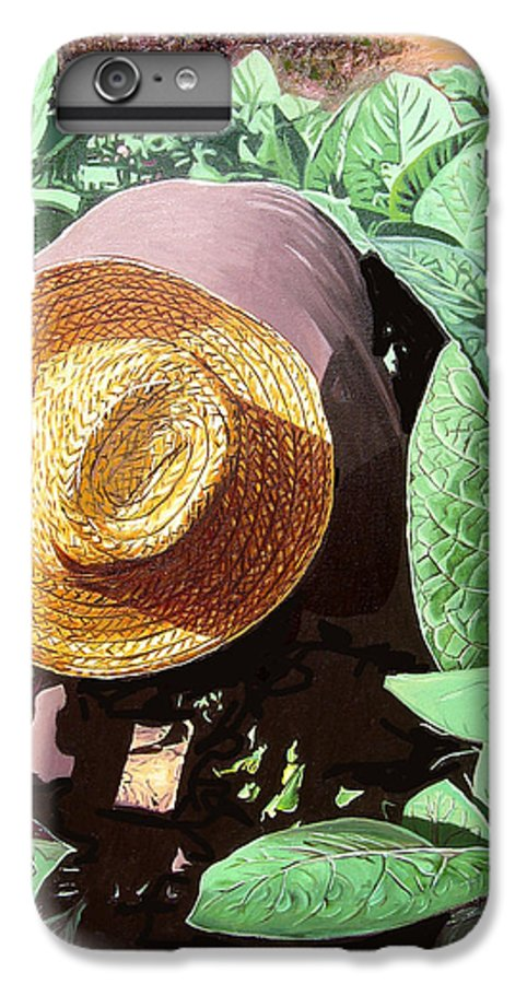 Tobacco IPhone 6s Plus Case featuring the painting Tobacco Picker by Jose Manuel Abraham
