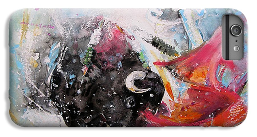 Animals IPhone 6s Plus Case featuring the painting Toro Tempest by Miki De Goodaboom