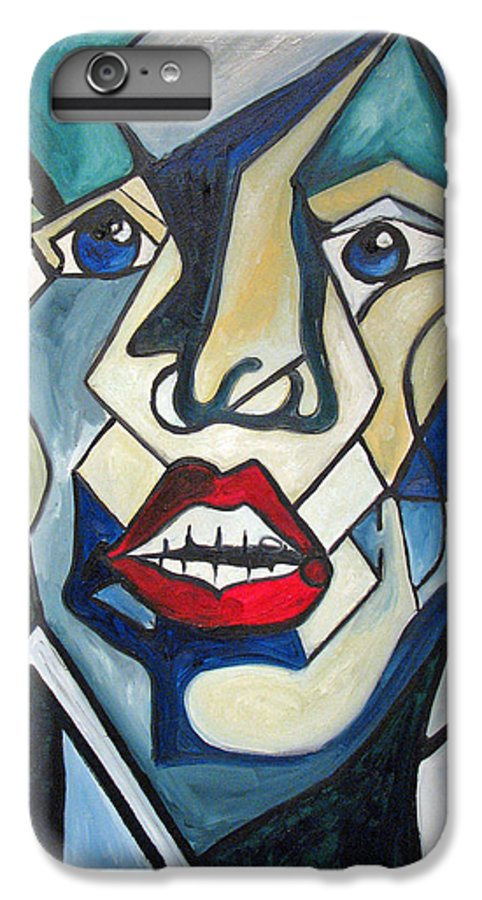 Abstract IPhone 6s Plus Case featuring the painting Tortured by Patricia Arroyo