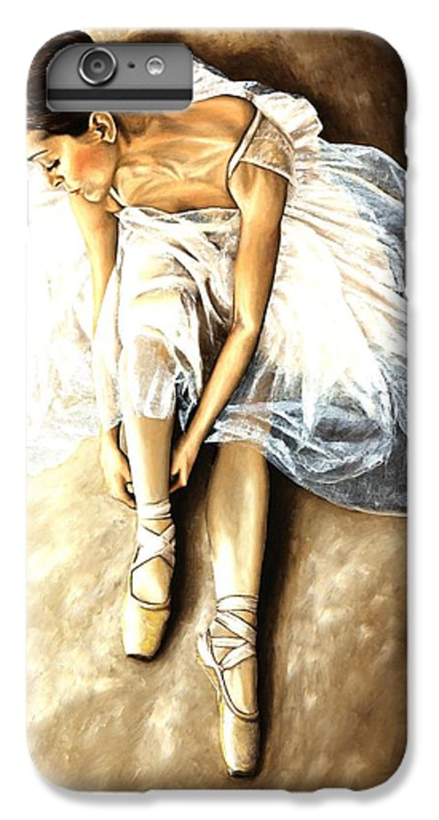 Ballet IPhone 6s Plus Case featuring the painting Tranquil Preparation by Richard Young