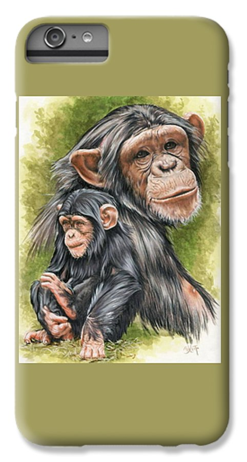 Chimpanzee IPhone 6s Plus Case featuring the mixed media Treasure by Barbara Keith