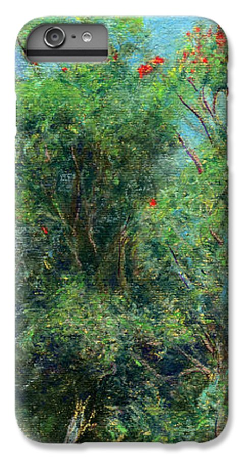 Rainbow Colors Pastel IPhone 6s Plus Case featuring the painting Trees Of Kokee by Kenneth Grzesik