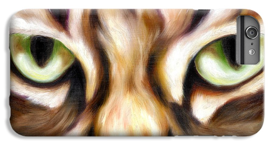 Cat IPhone 6s Plus Case featuring the painting Trick Or Treat by Hiroko Sakai