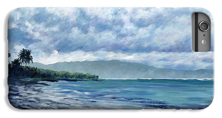 Seascape IPhone 6s Plus Case featuring the painting Tropical Rain by Danielle Perry