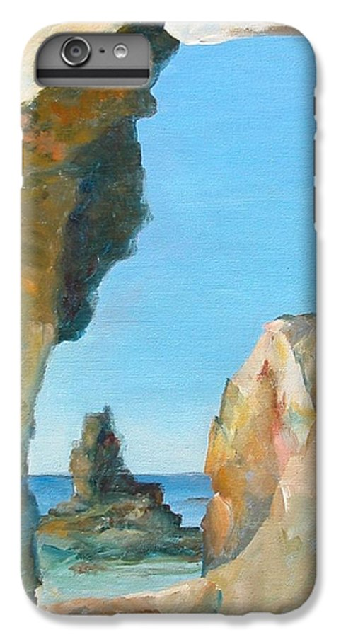 Paysage IPhone 6s Plus Case featuring the painting Trouee 1 by Muriel Dolemieux