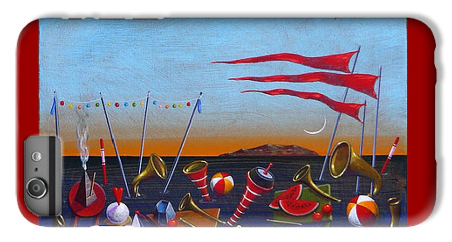 Piano IPhone 6s Plus Case featuring the painting Trumpets Of The Mediterranean by Dimitris Milionis