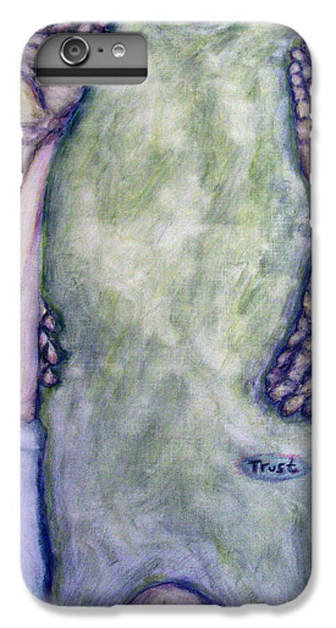 Evocative Expressionism IPhone 6s Plus Case featuring the painting Trust by Stephen Mead