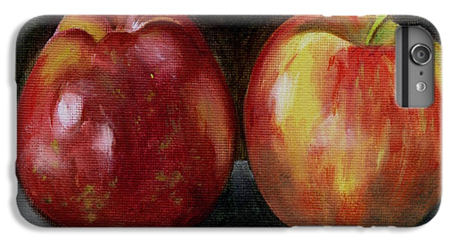 Oil IPhone 6s Plus Case featuring the painting Two Apples by Sarah Lynch