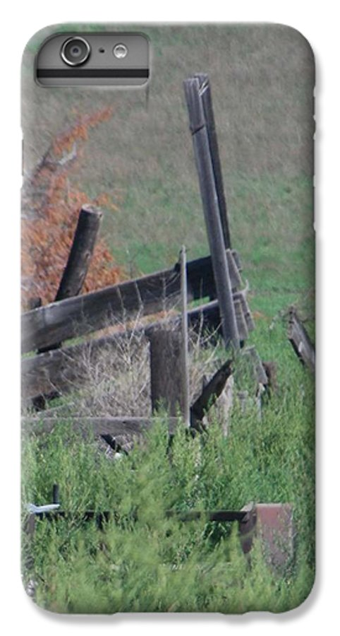 Farm IPhone 6s Plus Case featuring the photograph Untended Fences by Margaret Fortunato